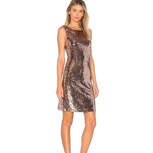 BB Dakota Garland rose gold sequin dress NWT
